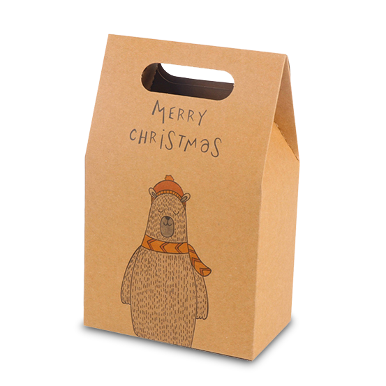 Kraft Christmas Gable Bags