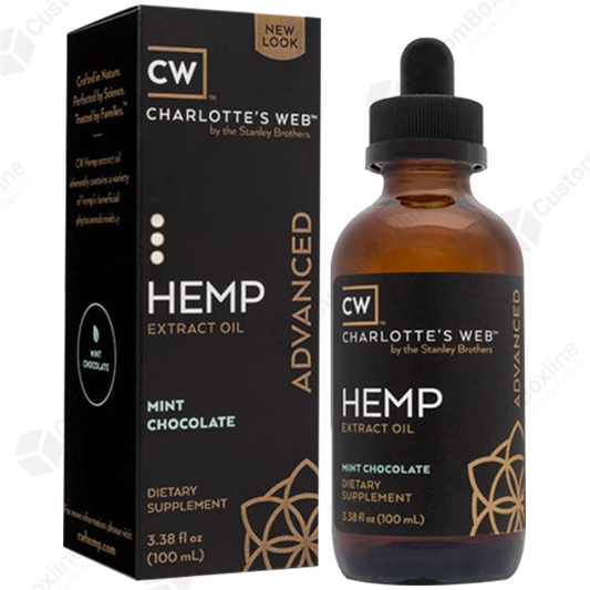 Custom CBD Hemp Extract Box Packaging