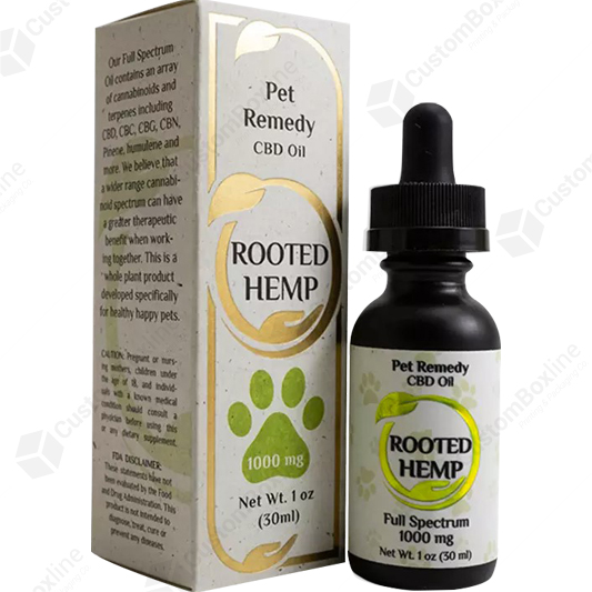 Custom CBD Pet Remedy Packaging Boxes