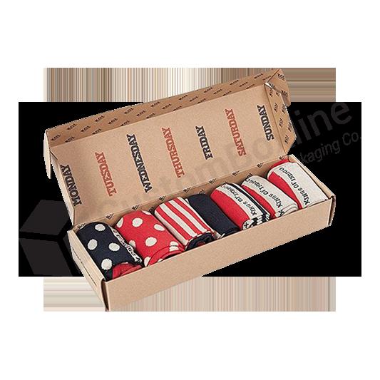 Corrugated Packaging Sock Box