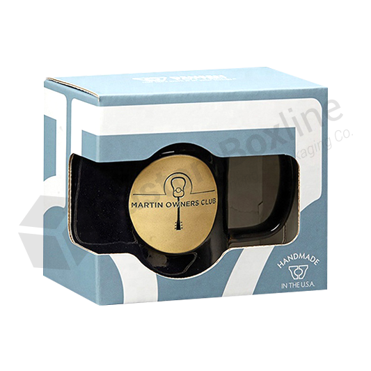 Drinkware Promotional Mug Boxes with Window Cut Out