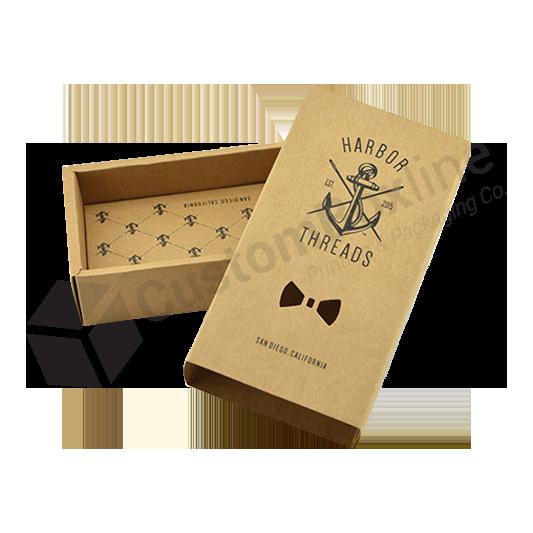 Eco Friendly Kraft Tie Box