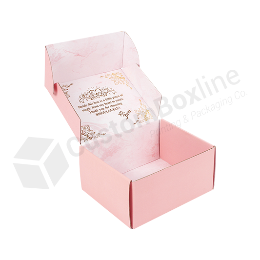 Pink Corrugated Mailer Boxes